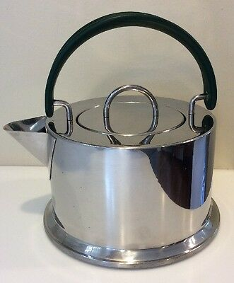 "Bodum Tea Kettle C. Jorgensen Design 18/10 Stainless Steel Italy Modernist 6""dia"