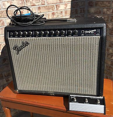 SWEET USA Fender Performer 1000 Guitar Amplifier Amp + Cables & Foot Switch