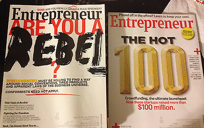 Lot of 9 Entrepreneur Magazine March-September 2015 plus one from 2013