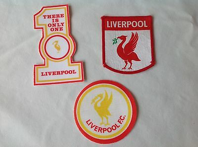 ** LIVERPOOL FC ~ 3 x SEW ON PATCHES ~1980's **