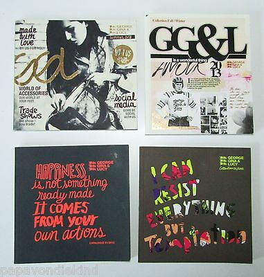 4x GG&L - George Gina & Lucy Kataloge 1/2012, 2/2012, Summer + Winter 2013