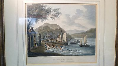 Antiker Kupferstich - PORT OF INVERARY Schottland - von 1802 - W. Miller London