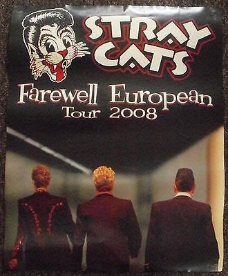 Stray Cats - Giant Tour Poster 2008
