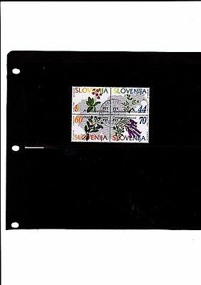 Slovenia - 1994 F/used Flowers Set.