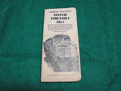 Union Pacific System Timetables #1 & 6 + Rules & Instructions
