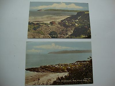 2 frith postcards-red wharf bay and Benllech bay