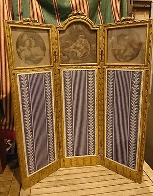 Antique Georgian / Victorian Gilted Child's dressing Screen