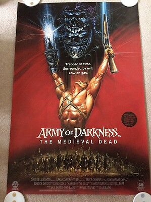 Army Of Darkness 1992 Rare Uk One Sheet Film Poster - Sam Raimi, Bruce Campbell