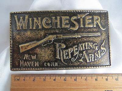 Vintage Winchester Repeating Arms metal belt buckle