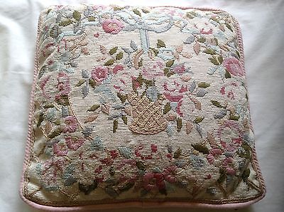 """Vintage tapestry cushion 13.5"""" square"""