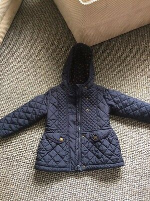 Girls Next School Coat Navy Winter Padded 3-4 Years