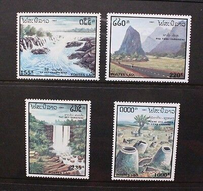 LAOS 1991 Tourism Nature Scenery. Set of 4. Mint Never Hinged. SG1243/1246.