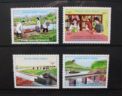 LAOS 1988 Completion 1st Five Year Plan. Set of 4. Mint Never Hinged SG1099/1102