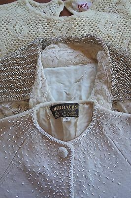 Lot of 3  Women's Vintage 1960s Beaded Lacey Dress Sweater Excellent cond - Sz S