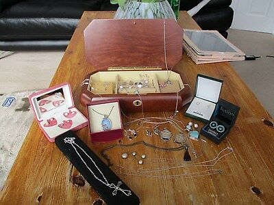 unusual joblot of antique vintage & modern silver and gold jewellery L@@K..