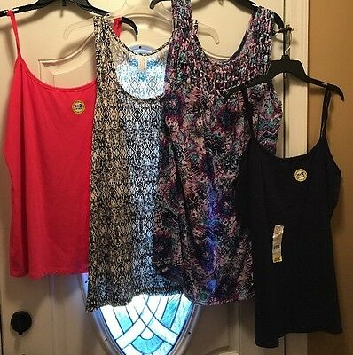 NWT 4 pcs Mixed Lot Women's Tanks Sleeveless Shirts Tops Size 3X