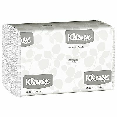 Kleenex 01890 Multi-Fold Paper Towels, 9 1/5 x 9 2/5, White, Pack of 150 Case of