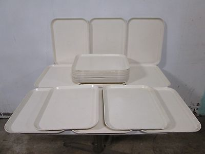 "Lot Of (25) ""forte"" H.d. Commercial Fiber-Glass Stackable/durable  Food Trays"