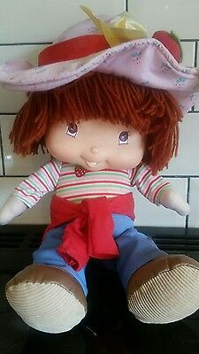 "Talking Strawberry Shortcake 15"" Soft Plush Toy Doll 2004"