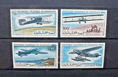 MAURITANIA 1966 Early Aircraft. Set of 4. Mint Never Hinged. SG239/242.