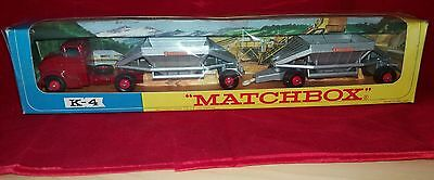 Matchbox Kingsize No K-4 Fruehauf Hopper train.Window box stunning condition