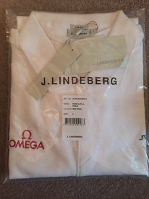 J Lindeberg Omega Golf Polo Shirt T - L Large BNWT Watch Seamaster Speedmaster