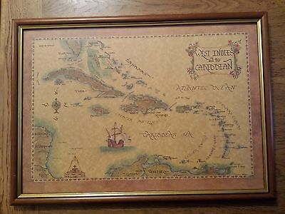 Vintage West Indies And The Caribbean Map - Xandra Fisher