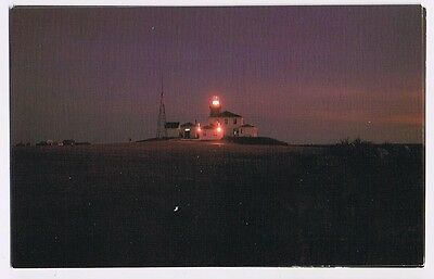 Night View Of Lighthouse At Watch Hill Rhode Island  - Postcard