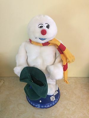 Gemmy FROSTY THE SNOWMAN Animated Dancing Singing Spinning Lighted Snowflake