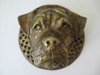 Vintage Rottweiler Dog Solid Brass Door Knocker