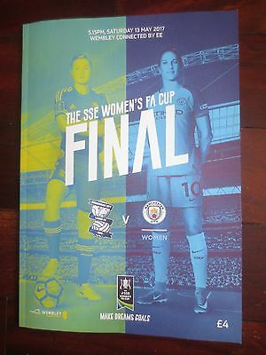 Birmingham City Vs Manchester City 2017 Women's FA Cup Final PROGRAMME, new
