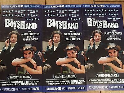 The Boys In The Band-Mark Gatiss-West End Vaudeville Theatre  Promo Flyer X 2