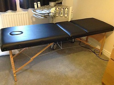 3 Way Black Massage Bed Adjustable Portable Folding Therapy Beauty Table Couch