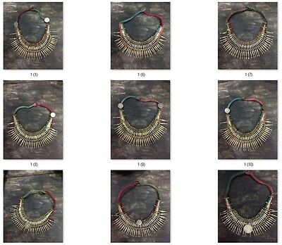 Wholesale  Antique Vintage Old Tharu Tribal Alloy Silver Necklace 54 pcs  Nepal