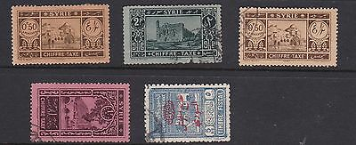 Syria. Small group of chiffre taxe stamps