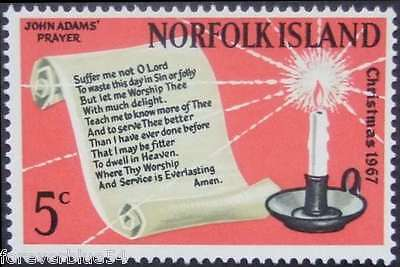 Norfolk Island 1967 SG 92  Sc 115 MNH  John Adams' Prayer  combined postage