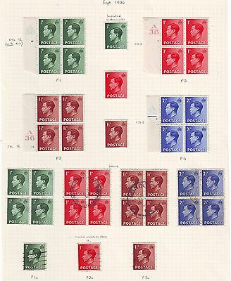 Page Of Ed Viii Stamps. Mint And Used Includes Inverted Watermarks