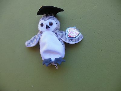 Ty Original Beanie Baby Wiser The Owl Class of 99' Mint Condition with Tags
