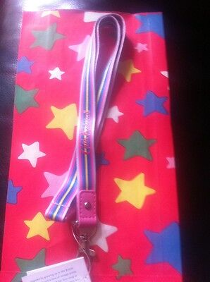 Cath Kidston Lanyard ID Holder Ski Festival pass Stripe Free Gift Bag Last One