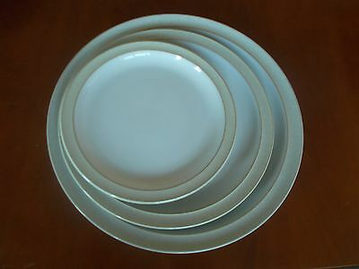 Denby Linen Dinner Plate,dessert Plate And Tea Plate