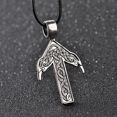 TYR son of Odin Rune Necklace & Pendant. Norse Viking Pagan  Biker UK seller
