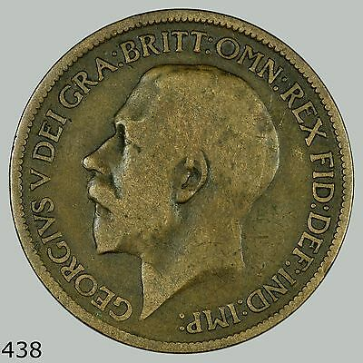 1917 GB, Great Britain 1/2 Penny, Half Penny, Half Cent, UK, English, England