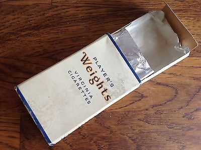 Player's Weights Virginia Cigarettes Original Empty 10 Pack With Lining