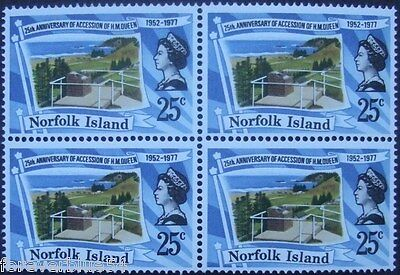 Norfolk Island 1977 SG 196 (Sc 218) block of 4 MNH - Queen's Silver Jubilee