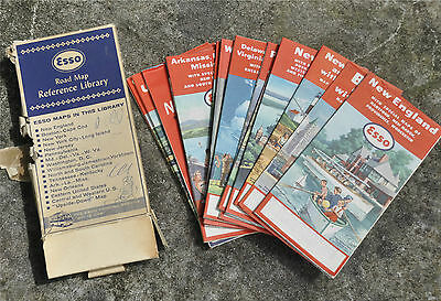 Vintage 1956 Esso Road Map Reference Library 15 Maps