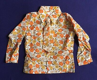 Vintage 70s Kids Boys Novelty Print Shirts Tie NOS Ladybird Made In Britain Age2