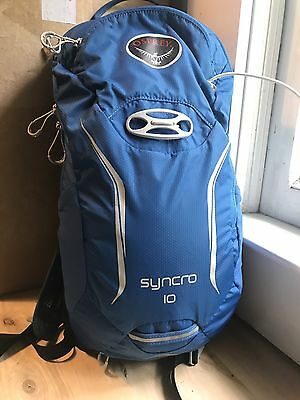 Osprey Syncro 10 Hydration Pack Backpack M/L Cycling Hiking Rain