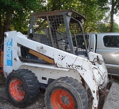 "1995 Bobcat 763    Skid Steer Loader     V2203 Kubota Engine    New  66"" Bucket"