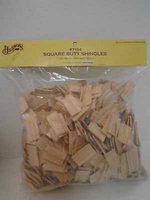 """Wooden Dollhouse Roof Square Butt Shingles 1"""" Scale 1000 Pieces New in Bag"""