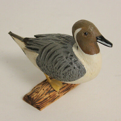 PINTAIL DUCK Hand Carved Painted Signed Brenneis Artist Wood Base 1995